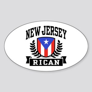 New Jersey Rican Sticker (Oval)