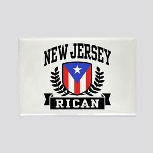 New Jersey Rican Rectangle Magnet