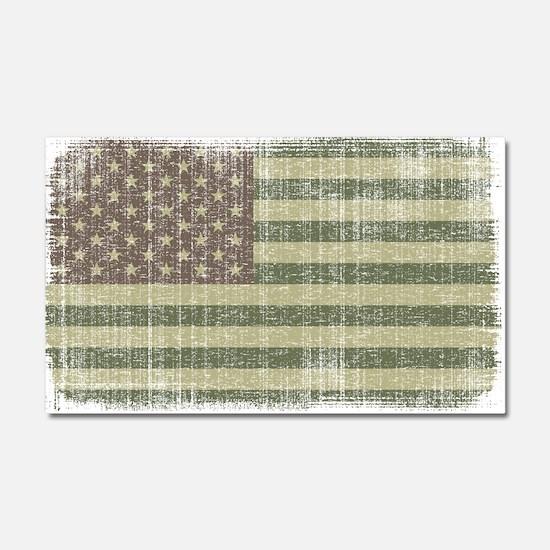 Camo American Flag [Vintage] Car Magnet 20 x 12