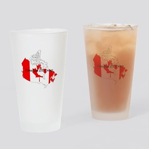 Canadian DX Group Drinking Glass