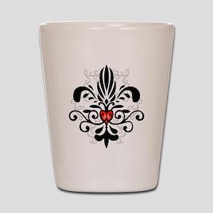 New Orleans Fleur Heart Shot Glass
