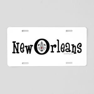 New Orleans Fleur Heart Aluminum License Plate