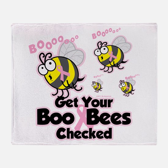 Boo Bees Throw Blanket