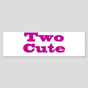Two Cute Twins Sticker (Bumper)