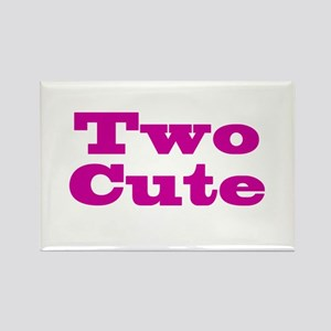 Two Cute Twins Rectangle Magnet