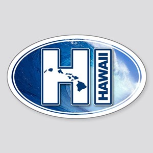 Hawaii Big Wave Sticker