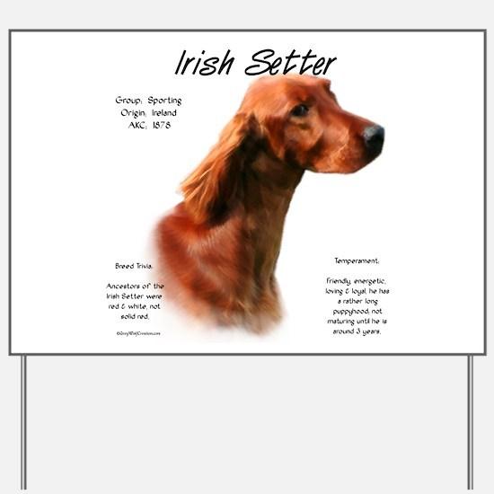 Irish Setter Yard Sign
