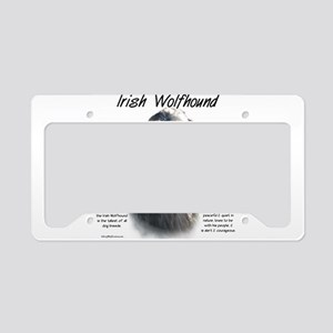 Irish Wolfhound (grey) License Plate Holder