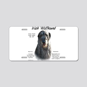 Irish Wolfhound (grey) Aluminum License Plate