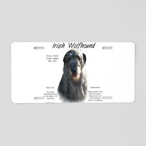 Irish Wolfhound (grey) Aluminum License Plate