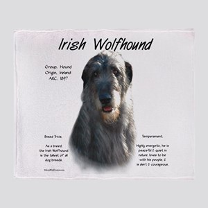 Irish Wolfhound (grey) Throw Blanket