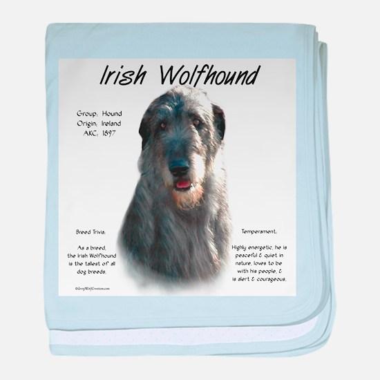 Irish Wolfhound (grey) baby blanket