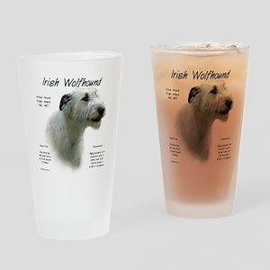 Irish Wolfhound (white) Drinking Glass