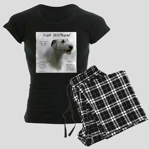 Irish Wolfhound (white) Women's Dark Pajamas