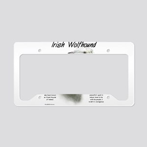 Irish Wolfhound (white) License Plate Holder