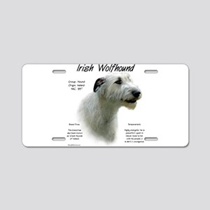 Irish Wolfhound (white) Aluminum License Plate