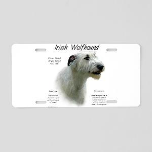 Irish Wolfhound (white) Aluminum License Plate