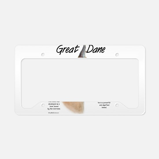 Great Dane (fawn) License Plate Holder
