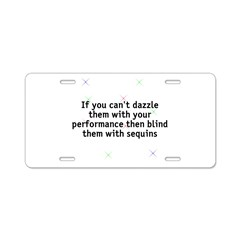 Dazzle/blind Aluminum License Plate