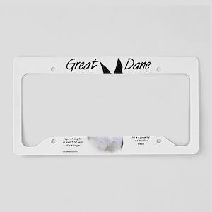Great Dane (mantle) License Plate Holder