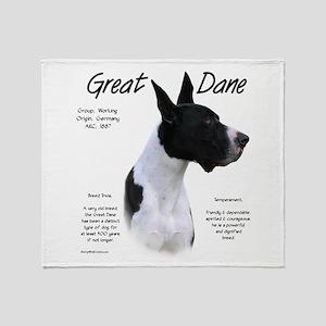 Great Dane (mantle) Throw Blanket