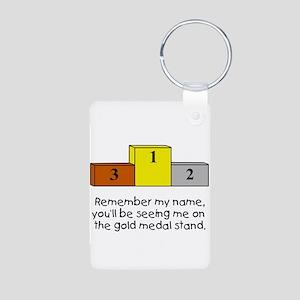 Remember My Name Aluminum Photo Keychain