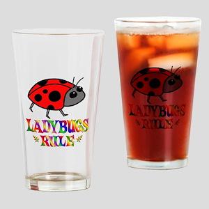 Fun Ladybugs Rule Drinking Glass
