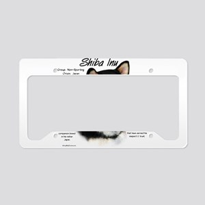 Shiba Inu (blk/tan) License Plate Holder