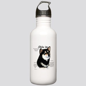 Shiba Inu (blk/tan) Stainless Water Bottle 1.0L