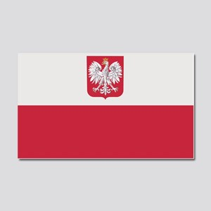 Flag of Poland Car Magnet 20 x 12