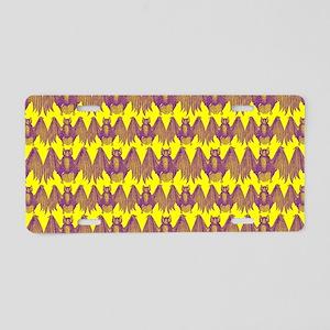 Bats Pattern Aluminum License Plate