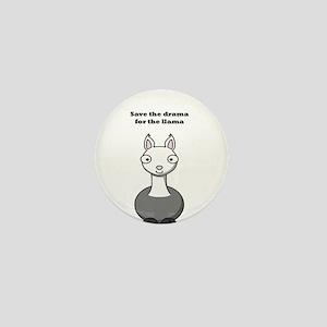 save the drama for the llama Mini Button