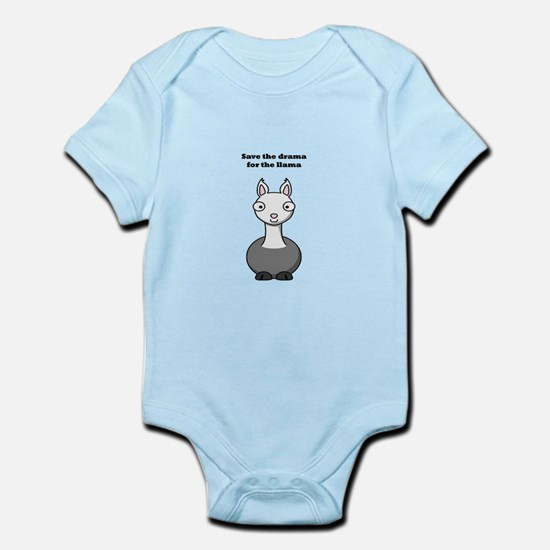 save the drama for the llama Infant Bodysuit