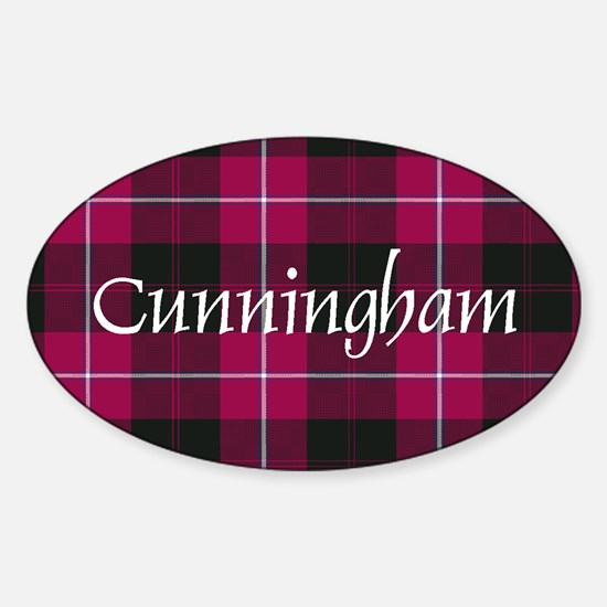 Tartan - Cunningham Sticker (Oval)