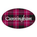 Tartan - Cunningham Sticker (Oval 10 pk)