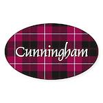 Tartan - Cunningham Sticker (Oval 50 pk)