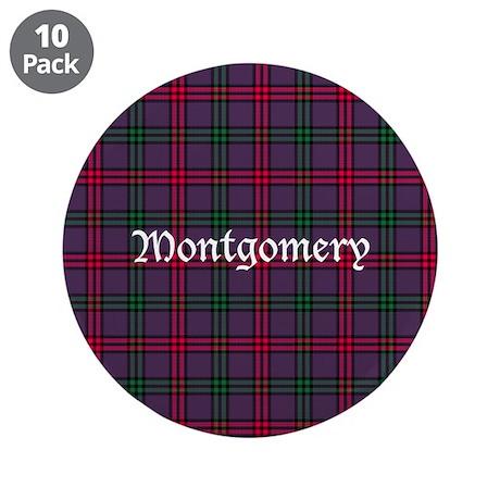 """Tartan - Montgomery 3.5"""" Button (10 pack)"""