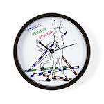 Trail Class Mule Wall Clock