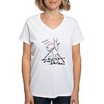 Trail Class Mule Women's V-Neck T-Shirt