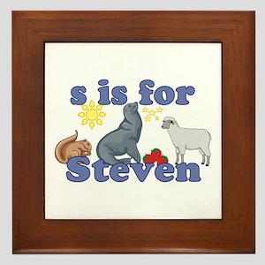 S is for Steven Framed Tile