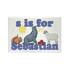 S is for Sebastian Rectangle Magnet (10 pack)
