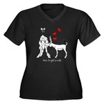 How to get a mule Women's Plus Size V-Neck Dark T-