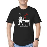 How to get a mule Men's Fitted T-Shirt (dark)