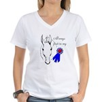 First in My Heart Women's V-Neck T-Shirt