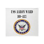 USS AARON WARD Throw Blanket