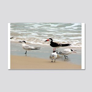 Seagulls on the Shore 22x14 Wall Peel