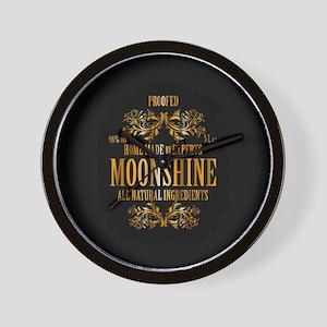 Moonshine label Wall Clock