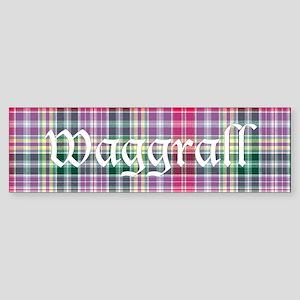 Tartan - Waggrall Sticker (Bumper)