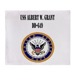 USS ALBERT W. GRANT Throw Blanket
