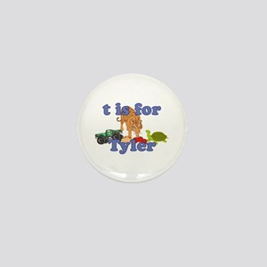 T is for Tyler Mini Button